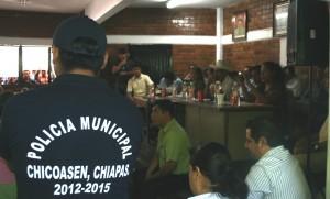El pleno de la asamble avala el inicio de la construcción de Chicoaspen II. Foto: Isaín Mandujano/Chiapas PARALELO