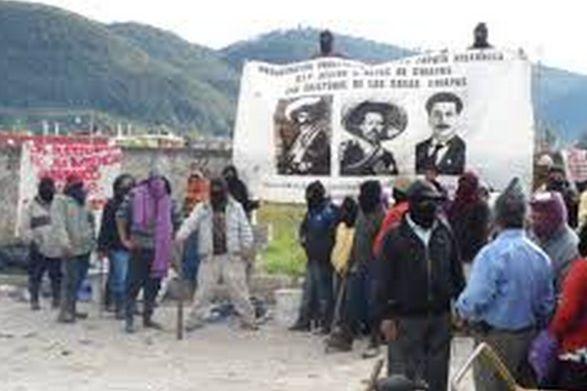 Invasores en terrenos de la OMIECH. Foto: La Foja Coleta.