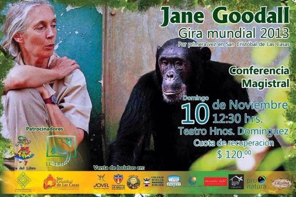 Jane Goodall Chiapas llega a Chiapas como parte de la gira mundial que realiza en su labor de sensibilización ambiental, principalmente a niños y jóvenes.