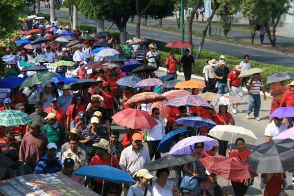 Maestros durante paro magisterial de 2013 ones. Foto: Archivo Chiapas PARALELO