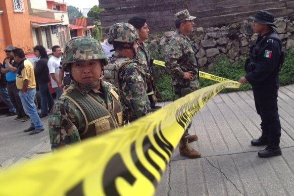 Operativo tras homicidio en Comitán. Foto: Fredy Martín Pérez