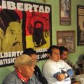 Aspecto de la conferencia de prensa de mayo de 2012, para exigir la libertad de Patishtán y del zapatista Francisco Sántiz. Foto: Red de Medios Libres