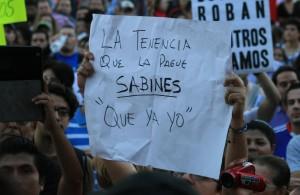 Al inicio de este año se dieron varias marchas en contra del impuesto a la tenencia vehicular. Foto: Isaín Mandujano/ Chiapas PARALELO.