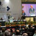 El rector de la Unach, Jaime Valls, en la presentación de su tercer informe de actividades.
