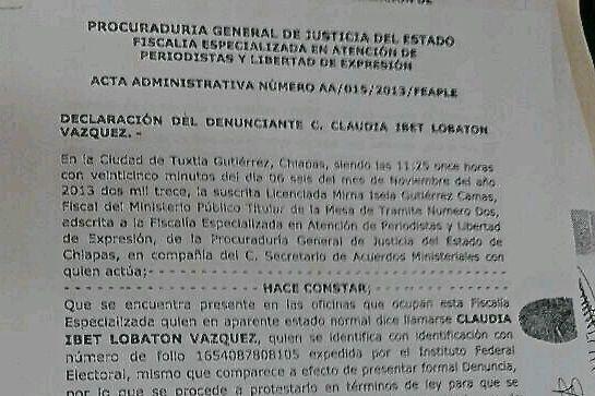 Maestros obligaron a la periodista Claudia Lobatón borrar las imágenes de su cámara, lo que constituye un delito. La agraviada interpuso una demanda ante la PGJE.
