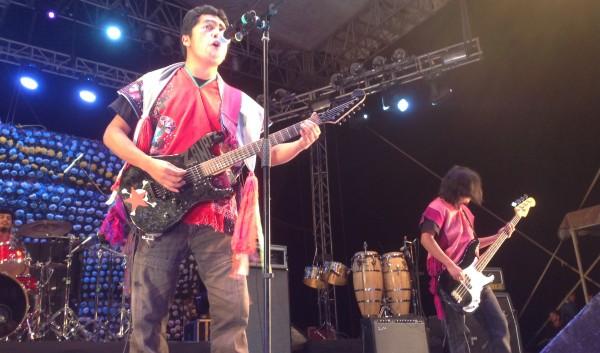 """El grupo Lumaltok fue una de las 15 bandas que participaron en el concierto """"De tradición y nuevas rolas"""" en Zinacantán, Chiapas:. Foto Chiapas PARALELO"""