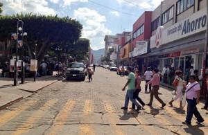 Zona despejada en el Centro de Tuxtla. Foto: @Esqurlas/Chiapas PARALELO