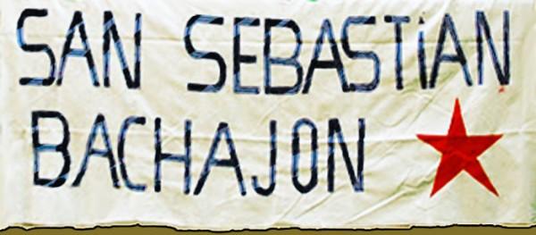 Habitantes de Bachajón demandan se respete la propiedad del banco de arena. Foto: Radio Pozol