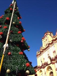 El impacto visual de la colocación de esta gran carpa blanca, el tobogán y el árbol de navidad resulta muy grave y desfavorable,  son elementos que impiden apreciar la Fachada de la Catedral, la Cruz Atrial, y demás edificios aledaños.
