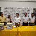 Carlos Navarrete en gira proselitista en Chiapas. Foto. Cortesía