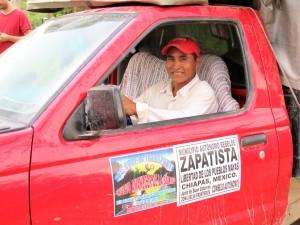 Cooperativa de transporte del EZLN en la Selva, Foto Ángeles Mariscal/Chiapas PARALELO