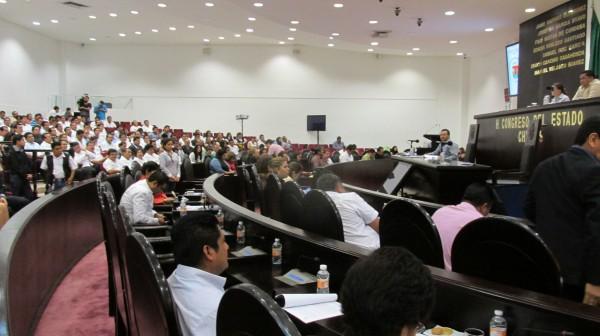 Algunas comparecencias iniciaron con falta de quórum. Foto: Sandra de los Santos/ Chiapas PARALELO.