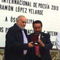 "El poeta chiapaneco, Oscar Oliva, Premio Internacional de Poesía ""Ramón López Velarde"" 2013"