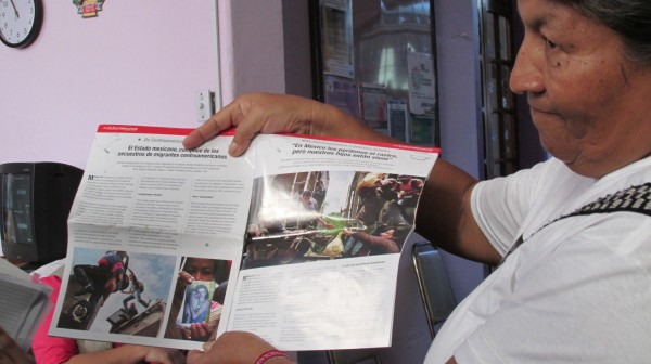 """En la revista """"Desinformemonos"""" vio Doris su propia foto y supo que su madre la estaba buscando. Foto:Sandra de los Santos/ Chiapas PARALELO."""