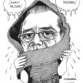 Pablo Salazar. Caricatura de Alfaro