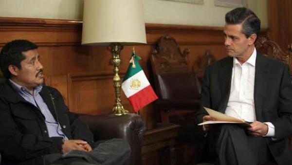 Patishtán en reunión con el Presidente Enrique Peña Nieto. Foto: Presidencia de la República
