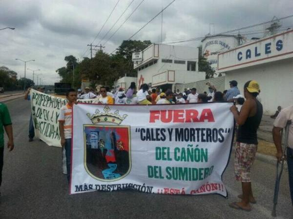 Protesta contra Cales y Morteros. Foto: Cortesía