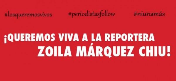 Queremos viva a Zoila Márquez
