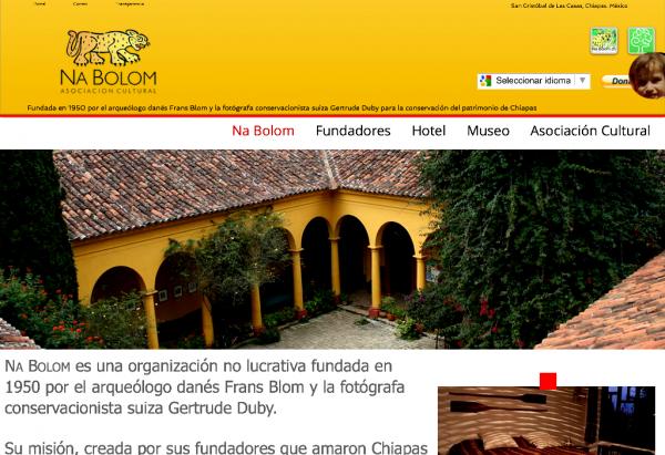 La Asociación Cultural Na Bolom relanza su portal de Na Bolom www.na-bolom.org y anuncias actividades para el fin de año