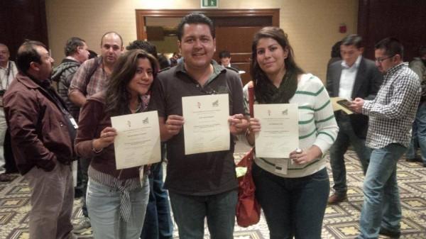 Mariana Morales, Cesar Solís e Issa Maldonado en el l Encuentro de Periodismo de Investigación Rompiendo El Silencio (#BootCampMx)