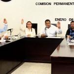 La comisión permanente del Congreso Local en su sesión ordinaria. Foto: Cortesía.