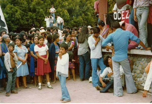 Campesinos luego del Congreso de 1974. Foto: Cortesía