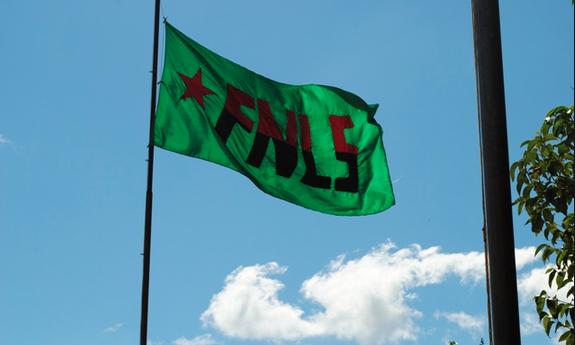 Bandera FNLS. Foto: Cortesía