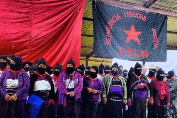 Comandantas del EZLN en la celebración de los 20 años. Foto: Isaín Mandujano/Chiapas PARALELO