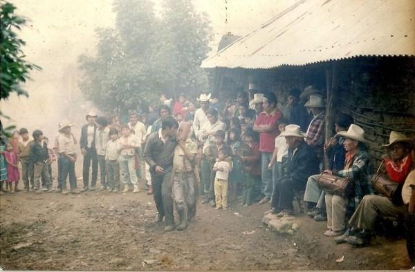 Danzas y rituales en Ocotepec. Foto: Cortesía Rokero Miguel