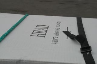 El cuerpo llegó en un caja de cartón con la inscripción Head y a los pocos centímetros el nombre Heberto Hernández Velasco. Foto: Fredy Martín Pérez