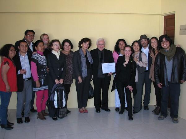 """Con el reconocimiento entregado esta mañana al Frayba """"deseamos honrar a los defensores de los derechos humanos en México"""": Gobierno de Francia. Foto: Frayba"""