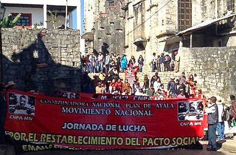 Manifestaciones en Puebla contra el extractivismo. Foto: Radio Expresión