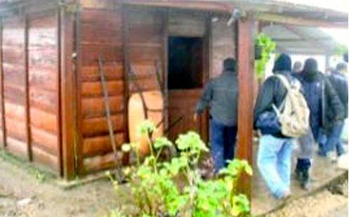 Operativo de desalojo en Berriozabal. Foto: Cortesía