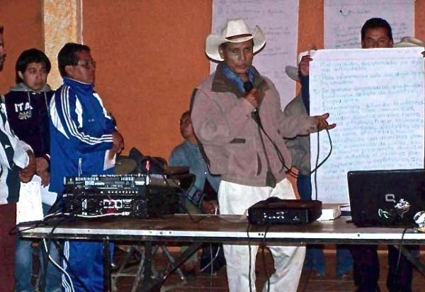 Oposición contra mineras en Sierra de Puebla. Foto: Radio Expresión