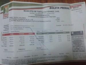 En el 2012 la familia pagó 200 pesos.