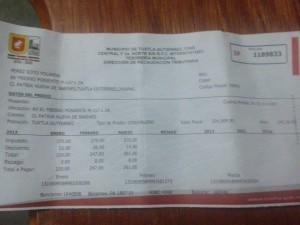En enero del 2013 la familia pagó 220 pesos.