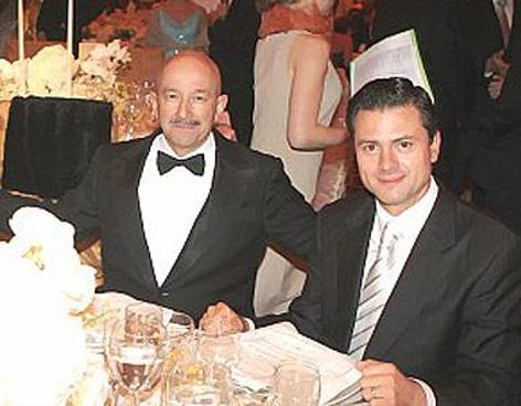 Carlos Salinas de Gortari y Enrique Peña Nieto. Foto: Archivo