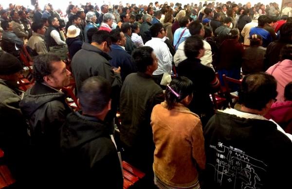 Más de mil 200 personas llegaron el miércoles 22 al Congreso Pastoral Diocesano de la Madre Tierra. Foto: Isaín Mandujano/Chiapas PARALELO