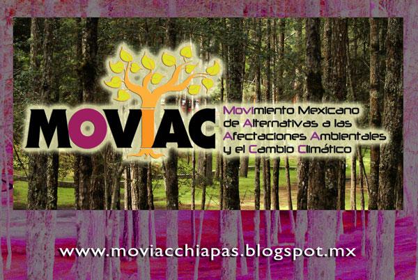 El MOVIAC-Chiapas la conforman varias organizaciones locales que luchan en contra de las políticas públicas represivas que dañan el medio ambiente y a la población.