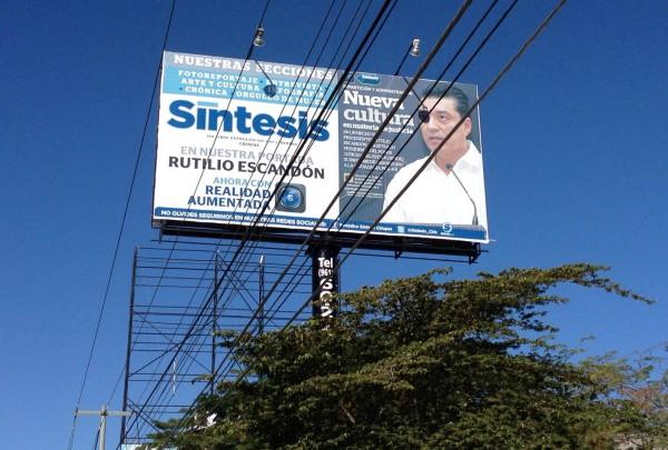 Sigue la autopromoción del Magistrado Presidente del Poder Judicial del Estado de Chiapas, Rutilio Escándón Cadena. Foto Isaín Mandujano/Chiapas PARALELO