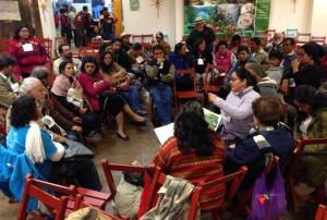 Grupos de discusón en el Congreso Pastoral Diocesano de la Madre Tierra. Foto: Isaín Mandujano/Chiapas PARALELO