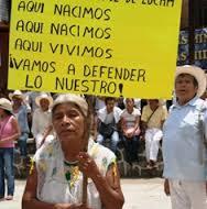 Protesta contra hidromineras en la Sierra de Puebla. Foto: Radio Expresión
