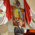El el Secretario General de Gobierno, Alfonso Gómez Sandoval, compareció ante el pleno de la LXII Legislatura de Oaxaca. Foto: Página 3/Chiapas PARALELO