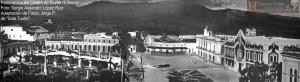 Una vista ampliada de la plaza central de Tuxtla.  Foto: Archivo/Museo de la Ciudad