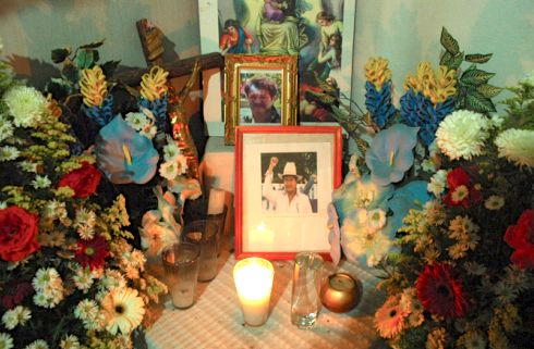 Altar en memoria de Mariano Abarca. Foto: blog ewwaunel