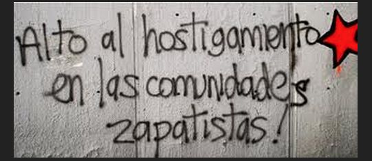 Alto al hostigamiento de comunidades EZLN. Foto: Cortesía