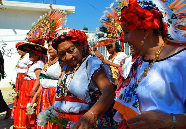 Danza de Yomoetzé realizado por mujeres zoques. Foto: Mag Servan/ Chiapas PARALELO.