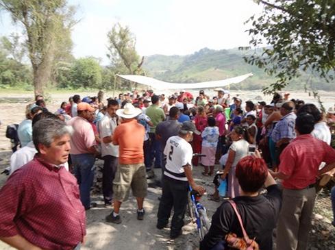 Manifestación en la zona del Río san Marcos, Puebla. Foto: Radio Expresión