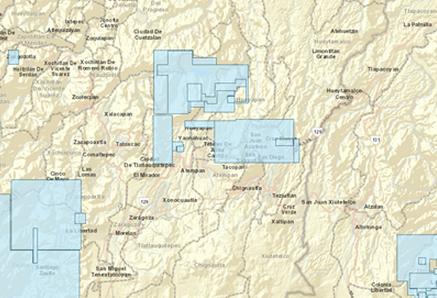 Mapa de los permisos de extracción que hay en el municipio poblano.