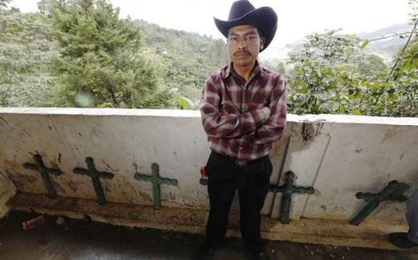 Nicolás, desplazado del Ejido Puebla. Foto: Koman Ilel